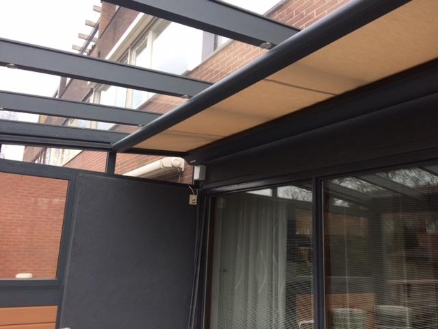 2018-6 zonnescherm voor koelte in huis en - onder de overkapping