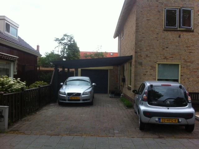 Overkapping c.q. carport zijkant huis in Schagen - Basjes ...